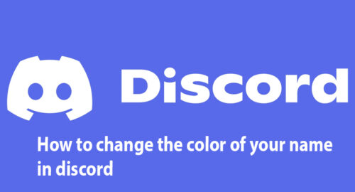 How to change the color of your name in discord