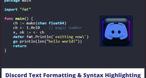Discord Text Formatting & Syntax Highlighting