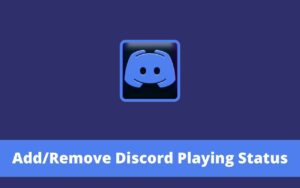 Add Remove Discord Playing Status